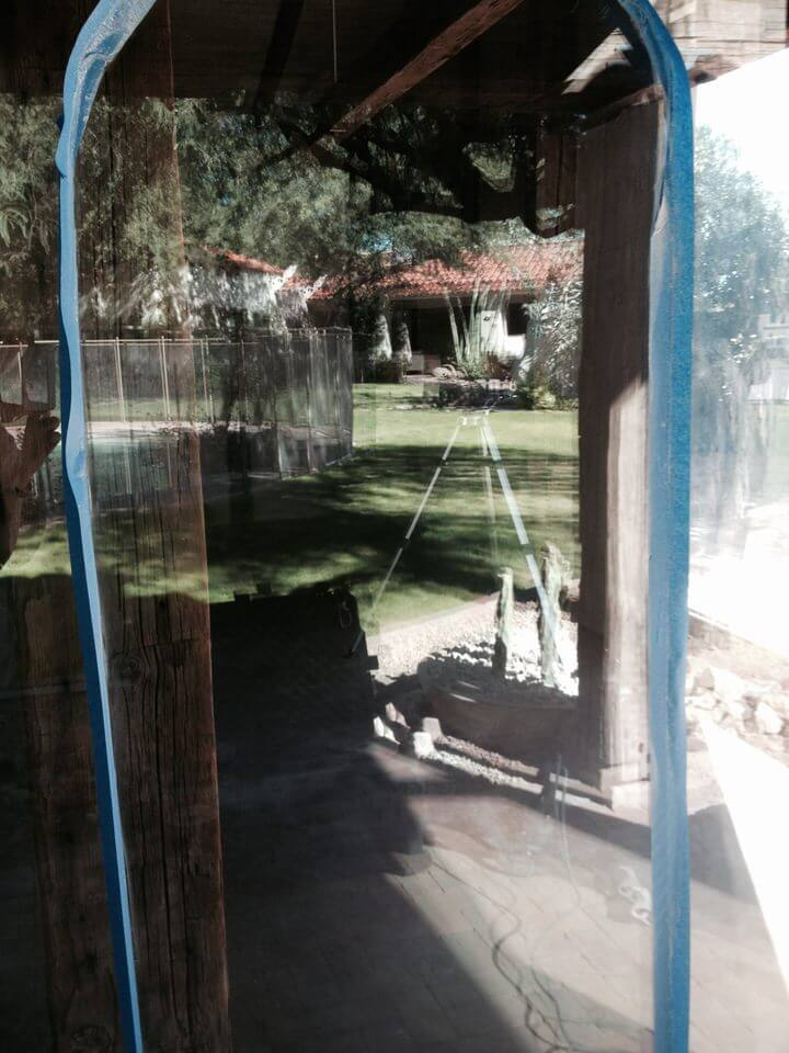 custom glass with hard water etching repair