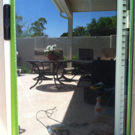glass sliding door hard water repair phoenix az before 1