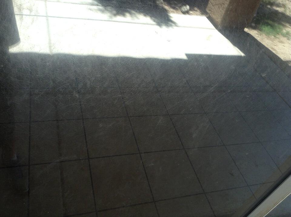 Ordinaire Dog Scratched Sliding Door Repair Up Close Damage