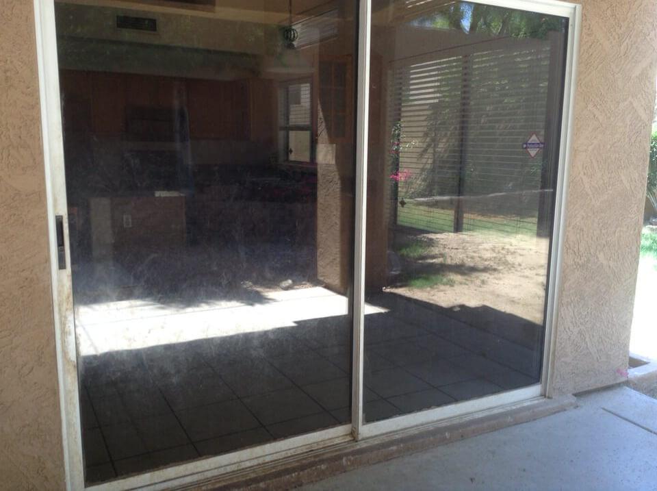 Dog Scratched Sliding Door Repair Phoenix Az Glass Restoration Guru