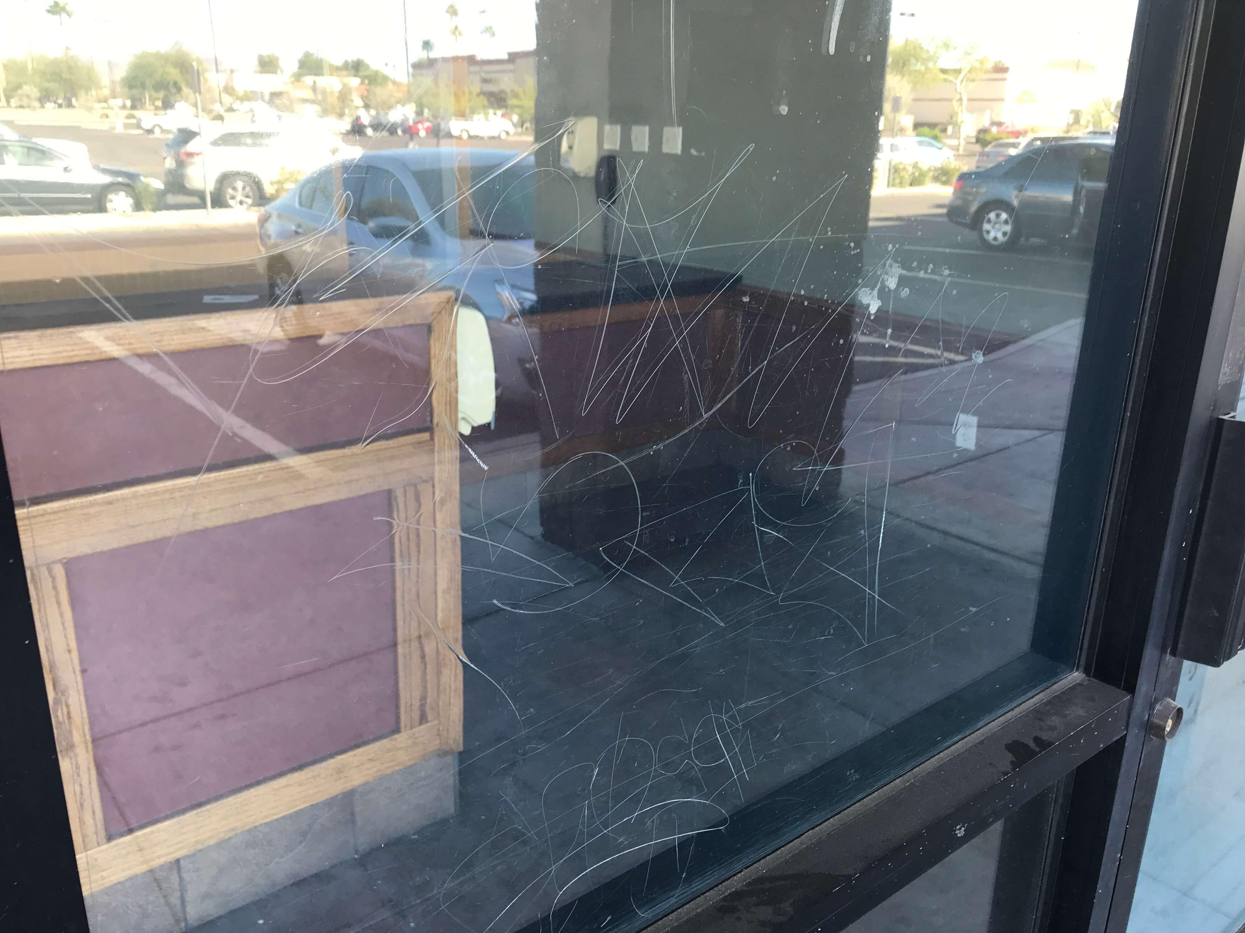 Glass Graffiti Repair